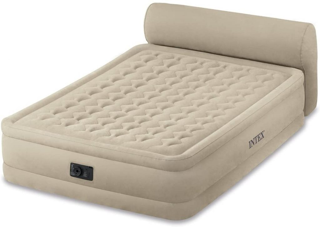 intex queen size air bed with headboard